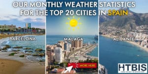 Monthly weather statistics for Spanish cities