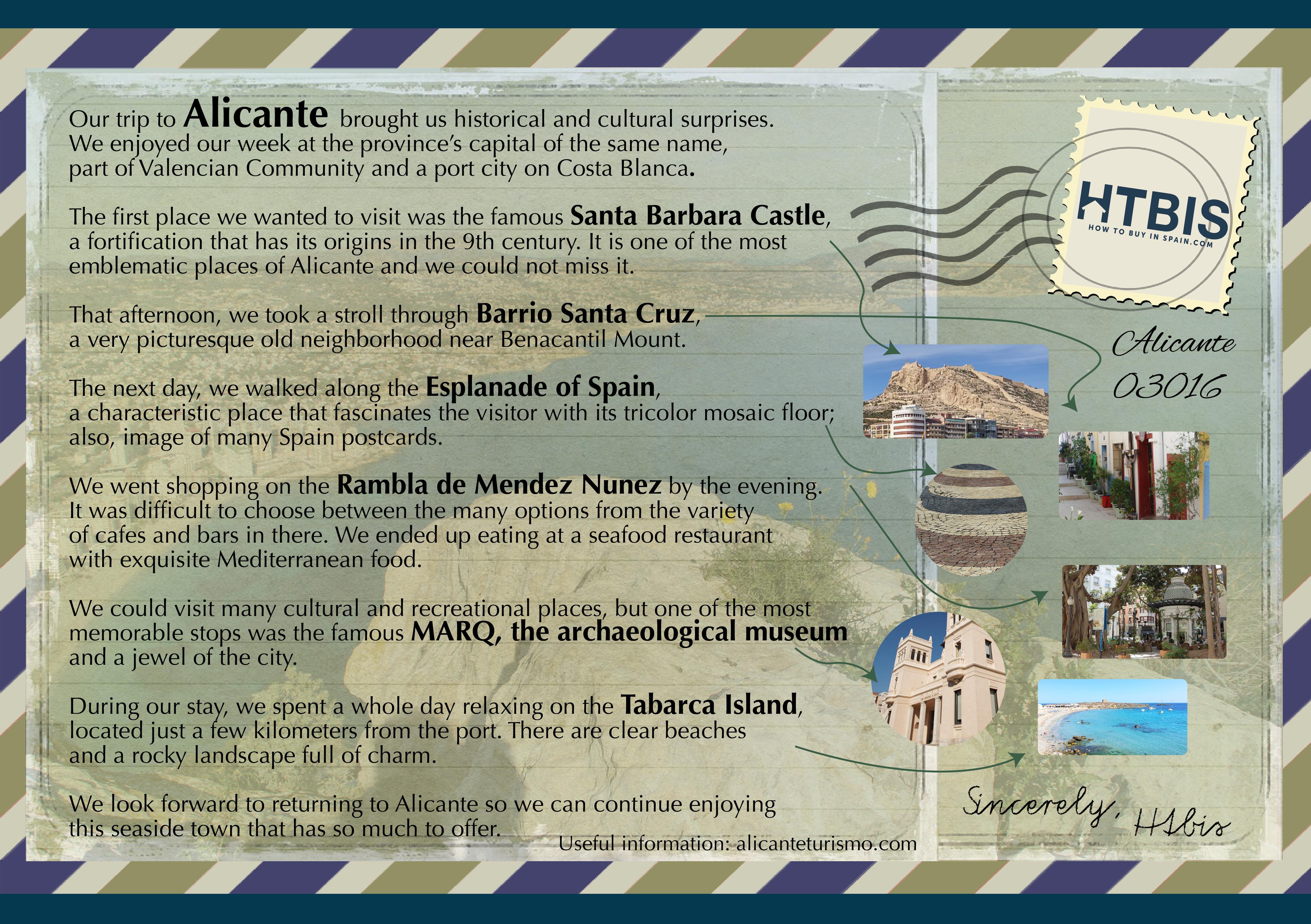 Alicante Citytrip ePostcard