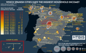 Infographic Which Spanish cities have the highest household income