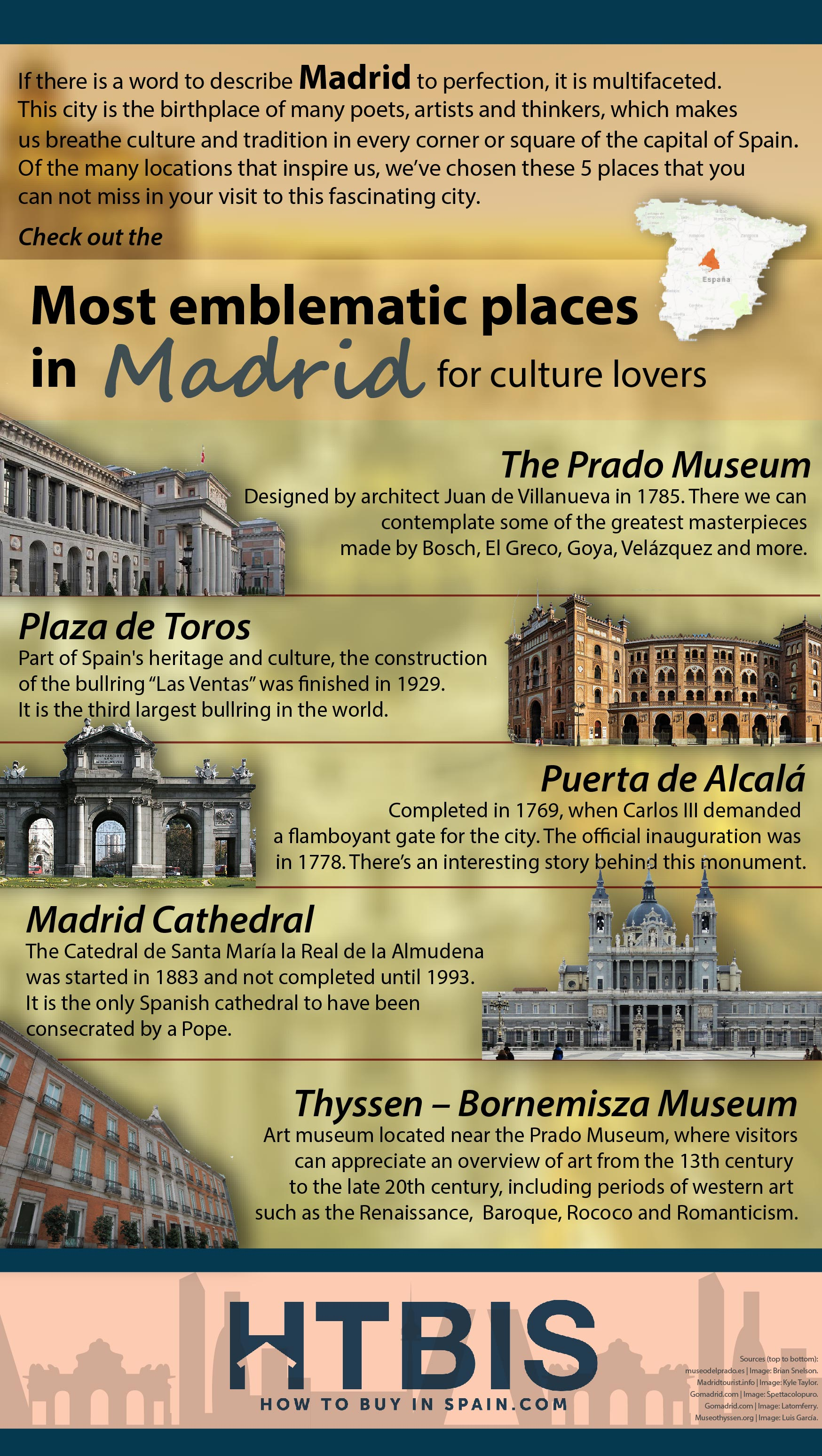 Infographic Madrid for Cultural lovers