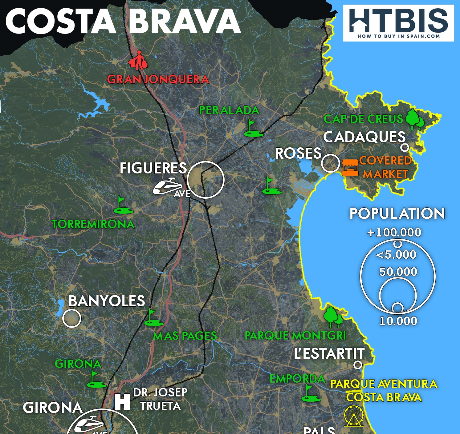 Everything you should know on the Costa Brava, check our infographic