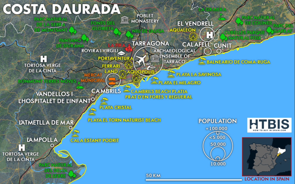 Find all the usefull informations on the Costa Daurada