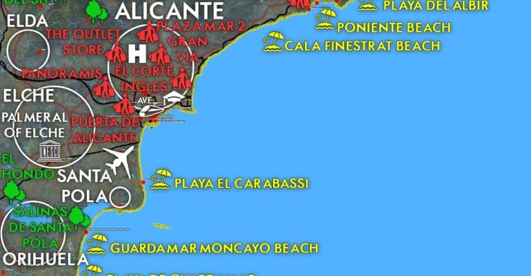 Find all the useful information on the Costa Blanca