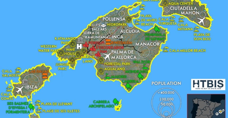 Infographic on the Balearic Islands