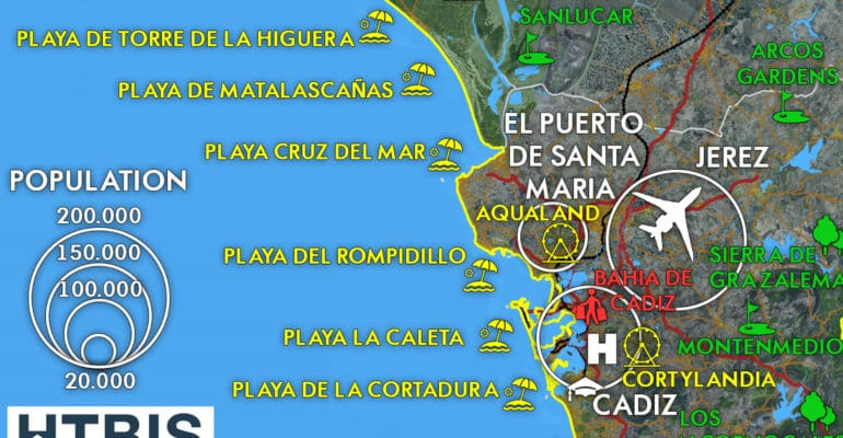 Costa de la Luz map Must see places Infographic